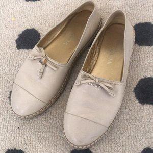 Prada calzature nappa travertino 36